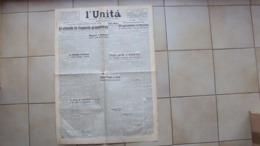 GIORNALE QUOTIDIANO L'UNITA' ORGANO DEL PARTITO COMUNISTA ITALIANO PCI DEL 14.08.1945 - Libri, Riviste, Fumetti