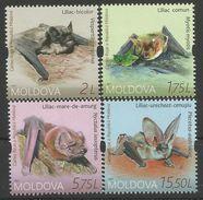 MD 2017 BATS, MOLDAVIA, 1 X 4v, MNH - Bats