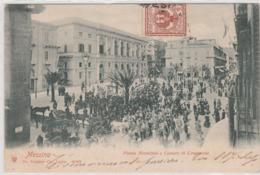 Cartolina - Messina - Piazza Municipio E Camera Di Commercio - Messina