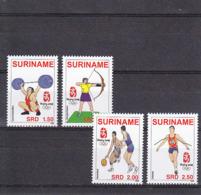 Olympics 2008 - Weightlifting - SURINAME - Set MNH - Ete 2008: Pékin