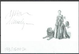 Martin Mörck. Denmark 2012. Queen Margrethe II Michel 1692 Blackprint. Limited Edition!  Signed. - Probe- Und Nachdrucke