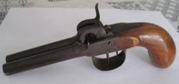 Petit Pistolet à Piston De Voyage, à Canon Double, Calibre 10 Mm à Restaurer. - Armes Neutralisées