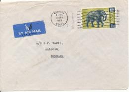 Kenya Cover Sent Air Mail To Denmark Mombasa 15-4-1969 Elephant Stamp (CONSULAT ROYAL DE DANEMARK) - Kenya (1963-...)