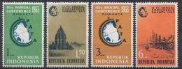 Indonesia Zonnebloem Cat Nr 383/386 Postfris (MNH, Neuf Sans Charniere) - Indonesia