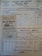 Dc08 2 Factures Huilerie Des Roches Nyons Drôme - 1900 – 1949