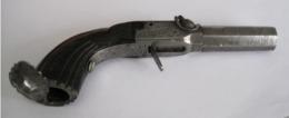 Petit Pistolet à Piston De Voyage, Calibre 12 Mm à Restaurer - Armes Neutralisées