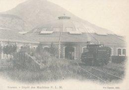 Veynes (05 - France) Le Dépôt Des Machines PLM - Gares - Avec Trains
