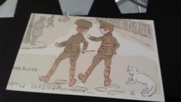 CPA -  Nos Alliés - LA VISITE A MONTMARTRE - Humour