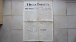 POLITICA GIORNALE QUOTIDIANO L'ITALIA SOCIALISTA A CURA DEL P.S.I. PARTITO SOCIALISTA ITALIANO - Libri, Riviste, Fumetti