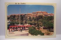 SIX-FOURS-LES-PLAGES   - L'ILE DES EMBIEZ - L'Hotel Helios    - ( Pas De Reflet Sur L'original ) - Six-Fours-les-Plages