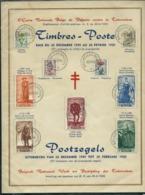 Feuillet Souvenir Série 814/22  Antituberculeux 49  Obl. Bxl 20/12/49 - ....-1951