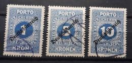 Deutsch-österreich 1918, Porto, Mi 72-74, Gestempelt - 1918-1945 1st Republic