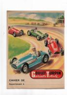 Protège-cahier Goulet Turpin Garantie Totale  Avec Autos De Course - Protège-cahiers