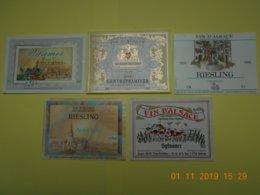 """Lot De 5 étiquettes De Vin """" ALSACE """" - Collections, Lots & Séries"""