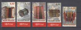 COB 3611 / 3615 Oblitération Centrale Accordéon - Used Stamps