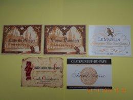 """Lot De 5 étiquettes De Vin """" BOURGOGNE """" - Collections & Sets"""