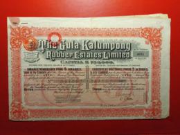 THE GULA - KALUMPONG RUBBER ESTATES LIMITED 1927 - Asia