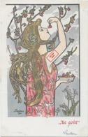 Rare ! CPA 1900 KieszKow - Les Cinq Sens : Le Goût - Old Postcard KiezKow - The Five Senses: Taste - Illustrateurs & Photographes