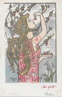 Rare ! CPA 1900 KieszKow - Les Cinq Sens : Le Goût - Old Postcard KiezKow - The Five Senses: Taste - Illustrators & Photographers