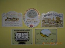 """Lot De 5 étiquettes De Vin """" MUSCADET """" - Collections, Lots & Séries"""