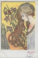 Rare ! CPA 1900 KieszKow - Les Cinq Sens : La VUE - Old Postcard KieszKow - The Five Senses: SIGHT - Autres Illustrateurs