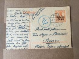 15315 Deutsches Reich Postgebiet Ober-Ost Ganzsache Stationery Entier Postal P 3  Mit Zensur Von Rekval - Deutschland