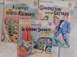Lot 3  Espionages Gestapo Secrets Alemand   Collection Patrie 1939 1940 Guerre  Amerique  éditions Rouff - Riviste & Giornali