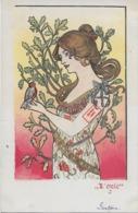 Rare ! CPA 1900 KieszKow - Les Cinq Sens : L'OUÏE - Old Postcard KieszKow - The Five Senses: HEARING - Autres Illustrateurs