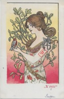 Rare ! CPA 1900 KieszKow - Les Cinq Sens : L'OUÏE - Old Postcard KieszKow - The Five Senses: HEARING - Illustrators & Photographers