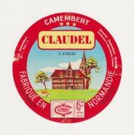 F/ETIQUETTE DE CAMEMBERT CLAUDEL PONT HEBERT - Cheese