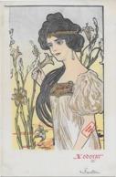 Rare ! CPA 1900 KieszKow - Les Cinq Sens : L'ODORAT - Old Postcard KieszKow - The Five Senses: SMELL - Illustrators & Photographers