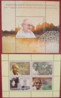 Tajikistan + Uzbekistan   2019  M. Gandhi  2 M/S   MNH - Mahatma Gandhi
