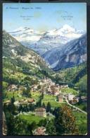 CV2974 ALAGNA (Vercelli VC) Veduta Del Paese E Della Valsesia, FP, Viaggiata 1932 Per Genova, Francobollo Asportato, Buo - Vercelli