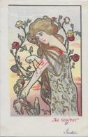 Rare ! CPA 1900 KieszKow - Les Cinq Sens : LE TOUCHER - Old Postcard KieszKow - The Five Senses: TOUCH - Illustrateurs & Photographes