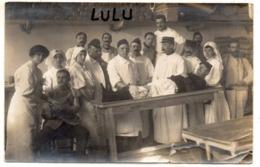 MILITARIA 402 : Carte Photo Corps Médical De L Hopital N° 10 ; écrite A Montpellier 17 Février 1915 - Guerre 1914-18