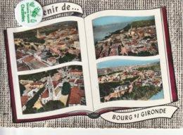 33 - Carte Postale Semi Moderne Dentelée De  SOUVENIR DE BOURG SOUS GIRONDE   Multi Vues - France