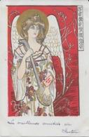 "Rare ! CPA 1900 KieszKow - Les Anges Musiciens - ""SERENADE"" - Old Postcard KieszKow Musicians Angels - 1 - Illustrators & Photographers"