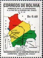 Bolivia 1991 ** CEFIBOL 1403 Homenaje Al LVI Aniversario De La Guerra Del Chaco. Mapa. - Bolivia