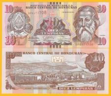 Honduras 10 Lempiras P-99a 2012 UNC Banknote - Honduras