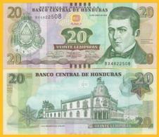 Honduras 20 Lempiras P-100b 2014 UNC Banknote - Honduras