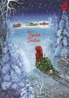 Postal Stationery - Birds - Bullfinches - Elf Bring Xmas Tree - Finnish Heart Association - Suomi Finland - Postage Paid - Finland