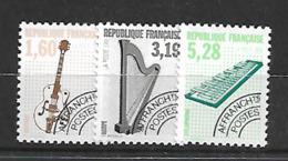 France 1992 Yvert Préoblitérés 213A-220A-221A Neufs** MNH (AA131) - Préoblitérés