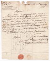 Lettre 1797 Saint Chamond Loire Gueugnon Saône Et Loire Perrot Frères Trullart Maître Des Forges - Marcophilie (Lettres)