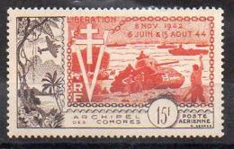 Comores Avion N° 4 Neuf * - Cote 40€ - Neufs
