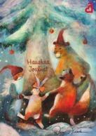 Postal Stationery - Birds - Bullfinches - Elf Animals Dancing - Finnish Heart Association - Suomi Finland - Postage Paid - Finland
