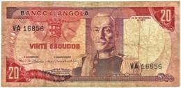 Angola - 20 Escudos - 24.11.1972 - Pick 99 - Série VA - Marechal Carmona - PORTUGAL - Angola