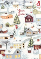 Postal Stationery - Birds - Bullfinches - Elf Bringing Gifts - Finnish Heart Association - Suomi Finland - Postage Paid - Finland