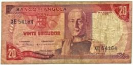 Angola - 20 Escudos - 24.11.1972 - Pick 99 - Série XE - Marechal Carmona - PORTUGAL - Angola