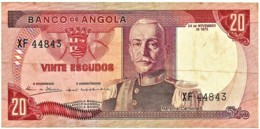 Angola - 20 Escudos - 24.11.1972 - Pick 99 - Série XF - Marechal Carmona - PORTUGAL - Angola