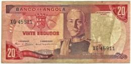 Angola - 20 Escudos - 24.11.1972 - Pick 99 - Série XG - Marechal Carmona - PORTUGAL - Angola
